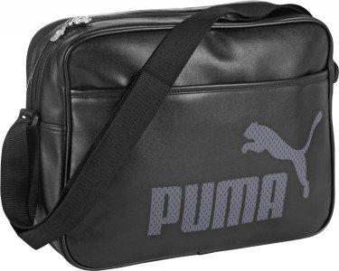 Puma Campus Reporter Messenger Shoulder Bag - Black