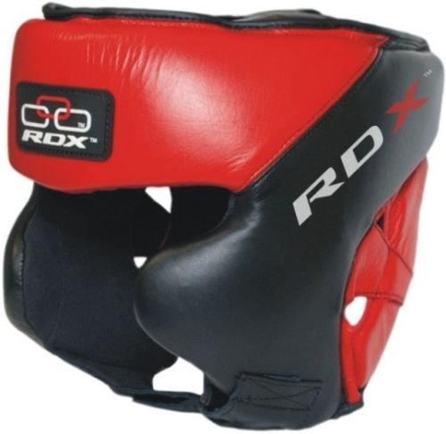 RDX Cow Hide Leahter Pro Boxing Head Guard Face Halmet Protection,Gloves, Large