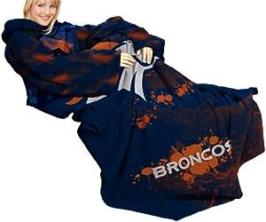 "NFL Denver Broncos Comfy Throw, Blanket with Sleeves, ""Smoke"" Design"