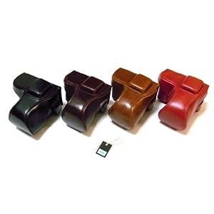 SONY α NEX-5R NEX-5D NEX-5N 専用 高級合皮レザー カメラケース フラッシュ格納可能