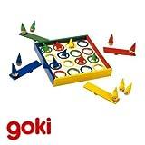 Juego de mesa DUENDES SALTARINES de madera y 4 colores Juego habilidad y punteria Ni