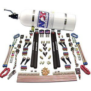 Composite Bottle Nitrous Express 40041-12 4150 50-200 HP 4-BBL Hitman Plus Plate System with 12 lbs