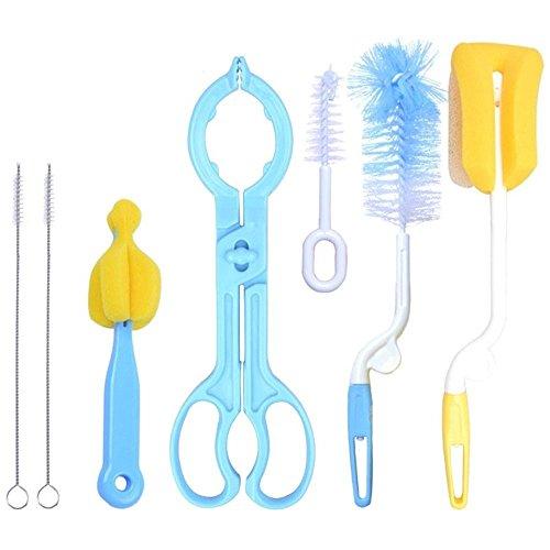 7-PCSSet-Baby-Flschchen-Nippel-Stroh-Pinsel-Schwamm-Nylon-Reinigungsbrste-von-Flasche-Zange-Set