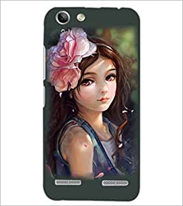 PrintDhaba Cute Girl D-3810 Back Case Cover for LENOVO LEMON 3 (Multi-Coloured)