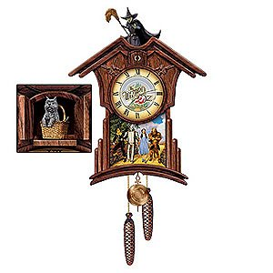 Cuckoo clocks wizard of oz wooden colorful character cuckoo clock - Colorful cuckoo clock ...