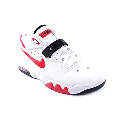 Buy Nike Mens Air Force Max 2013 Basketball Shoes-White University Red by Nike