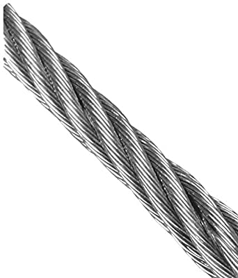 Loos Monel Wire Rope, 7x7 Strand Core