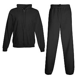 Hanes Men\'s ComfortBlend EcoSmart Sweatsuit, Medium, Black