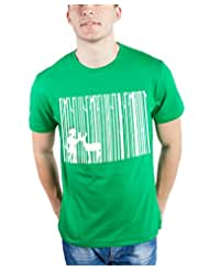 TOMO Men's Cotton Green Color Round Neck DEEP FOREST Printed T-shirt