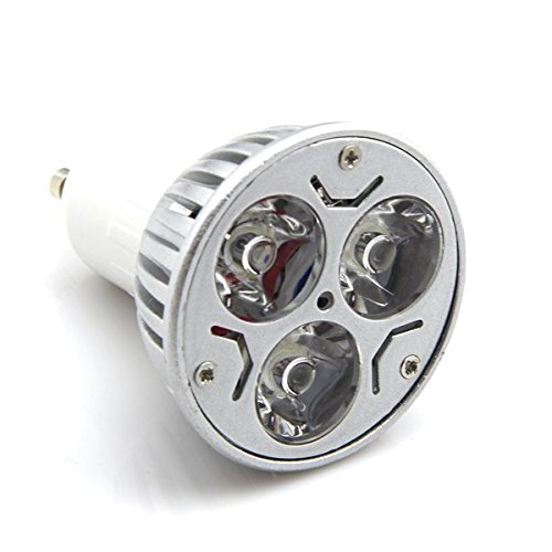 Welsun 10Pcs/Lot 110V 3W Gu10 Led Bulb - 3000K Warm Light Led Spotlight - 50Watt Equivalent - 60Degree Lens