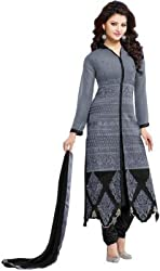 Mandani Fashion women's Fuax Georgette Party Wear Unstitched dress material(SF138_Grey color)
