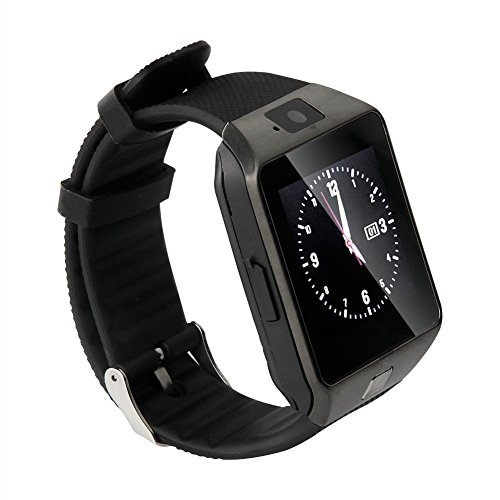 Pandaoo Smart Watch Hot Selling SmartWatch DZ09 For Apple/Samsung/Android/ IOS Phone Bluetooth Wearable Watch Smart Mobile Syn SIM Watch(Black)