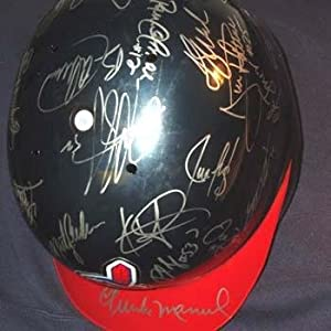 Authentic 2001 Cleveland Indians Team Signed Helmet - Autographed MLB Helmets and... by Sports+Memorabilia