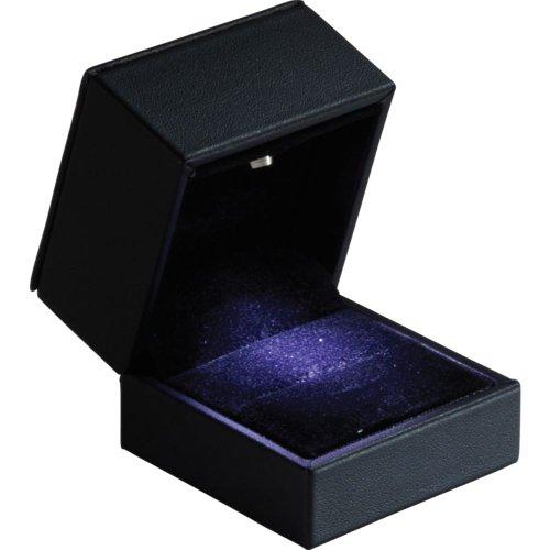 Small Black Earring/Pendant/Ring Led Lighted Box 61-4517