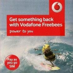 Vodafone UK United Kingdom Mobile Cell PAYG SIM Card With £20.00 GBP Credit
