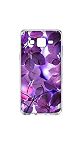 Leave Pattern Mobile Case/Cover For Samsung Galaxy J5 2D Transparent