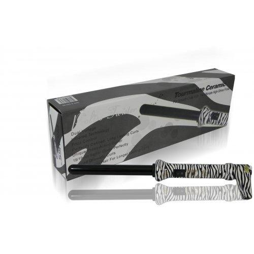 Proliss 19mm zebra the wand rod hair curling iron best for Zebra curling wand