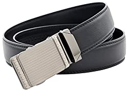 Binlion 100% Real Leather Auto Bulk Belt (115, Black)