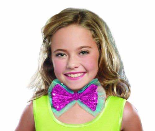 SugarSugar Dance Craze Sequin Bowtie Costume, Hot Pink, One Size