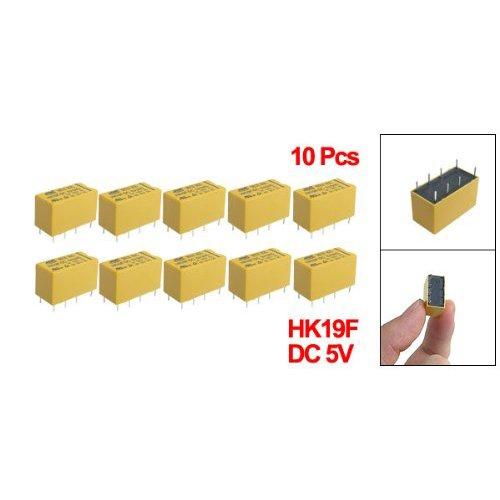 Toogoo(R) 10 X Dc 5V Coil 125V/1A Dc 30V/2A Ac 2A/30V Dc 8 Pins Dpdt Power Relay Hk19F