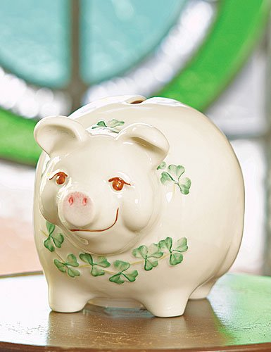 Belleek Piggy Bank - 1