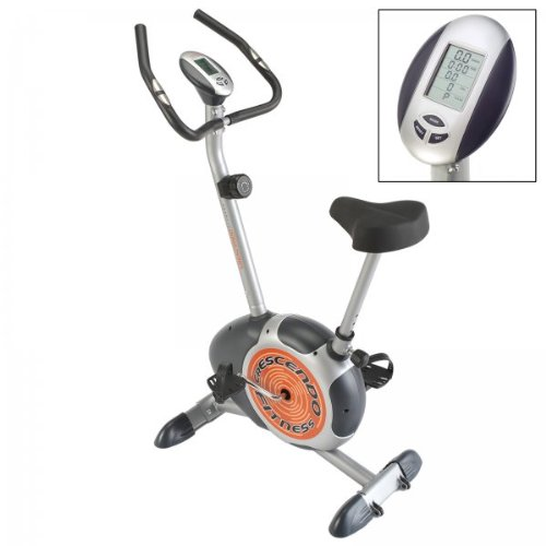 Crescendo Fitness Magnetic Resistance Exercise Bike with On-Board Computer