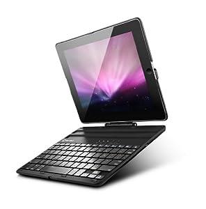 New Trent Airbender 1.0 - Wireless Bluetooth Clamshell iPad Keyboard Case. Compatible: iPad 4, iPad 3 and iPad 2. (upgraded version)