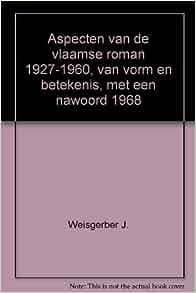 Aspecten van de vlaamse roman 1927-1960, van vorm en betekenis, met