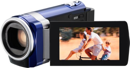 JVC GZ-HM440AEU Full HD Camcorder (SD Karte, 40-fach optischer Zoom, 6,9 cm (2,7 Zoll) Display, HDMI Kabel) blau