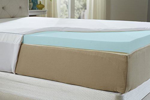 Natures Sleep AirCool IQ Full Size 2.5 Inch Thick 3lb Density Gel Memory  Foam Mattress Topper with Microfiber Fitted Cover and 18 Inch Skirt –  Seniors ... - Natures Sleep AirCool IQ Full Size 2.5 Inch Thick 3lb Density Gel