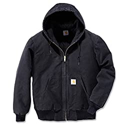Carhartt Men's Quilted Flannel Lined Sandstone Active Jacket J130,Black,Small