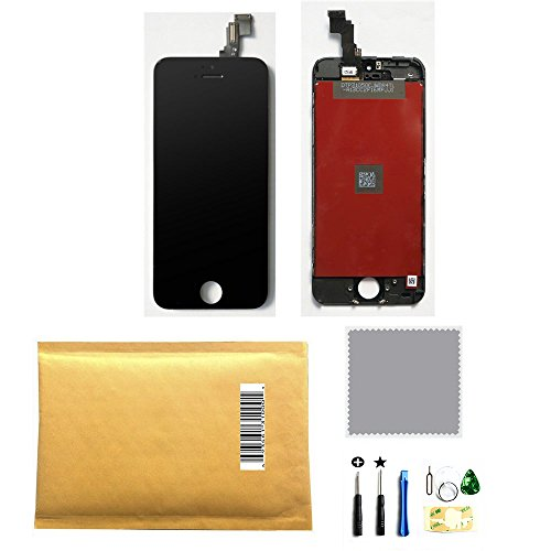 LCD Display +Touch Screen Digitizer Assembly for Iphone 5C Black +Tools