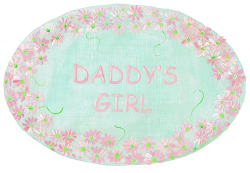 The Kids Room by Stupell Daddy's Girl with Pink Daisy Border Oval Wall Plaque