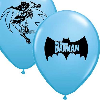 Batman 12in Balloons 6ct by Pioneer Party Group
