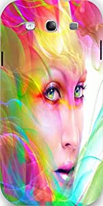 Snoogg Colorful Hair Woman 2769 Case Cover For Samsung Galaxy S3