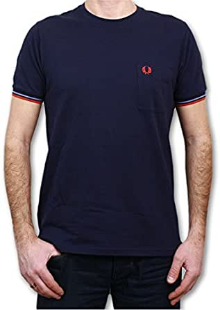 Fred Perry - T-Shirt Pique Pocket Foncé _ Couleur Bleu
