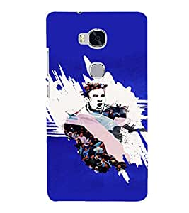 PRINTSHOPPII SPORTS FOOTBALL Back Case Cover for Huawei Honor 5X