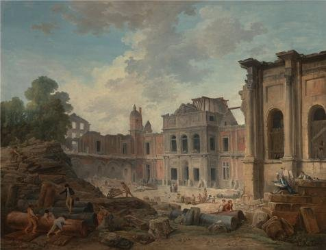 The High Quality Polyster Canvas Of Oil Painting 'Demolition Of The Chteau Of Meudon, 1806 By Hubert Robert' ,size: 10x13 Inch / 25x33 Cm ,this Replica Art DecorativeCanvas Prints Is Fit For Hallway Gallery Art And Home Gallery Art And Gifts