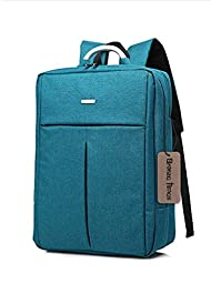 Bronze Times (TM) Unisex 15.6 inch T-shape Top Canvas Busniess Travel Computer Backpack (B-Blue)