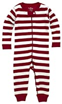 Hatley Baby Girls Infant Zip Up Coverall Candy Cane Stripes, Multi, 12-18 Months