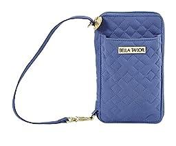 Heritage Blue Microfiber Quilted Cotton Wristlet Wallet