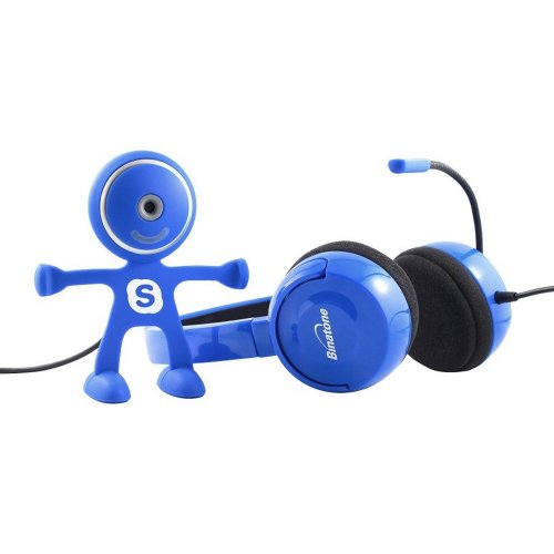Skype Starter Kit - Headset And 720P Webcam (Blue) Includes Voucher For 3 Months Of Us/Canada Calls