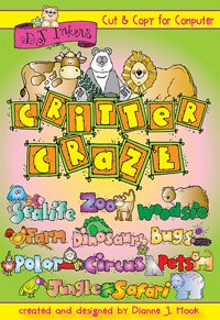 Critter Craze Clip Art CD
