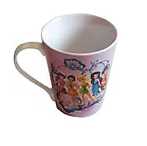 10 oz Disney Fairies Mug - V shape Porcelain Tinker Bell & Friends Cup with handle