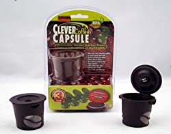 Clever Coffee Capsule - Brown Reusable Coffee Filter for Cusinart/breville/keurig Single Serve K-cup Coffee Brewers- 3 Pack 700 & 780pc Models K-cup Brewers 3-count W/scoop