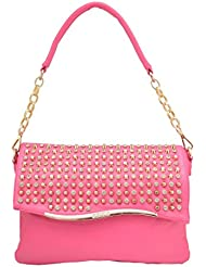 Omkar Shopy New Fashion Women's Ladies PU Hand Bag / Shoulder Bag (pink) OS125003426
