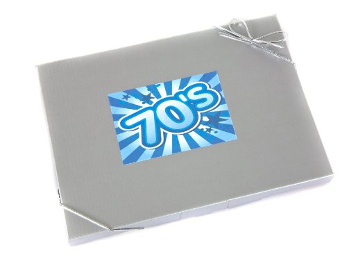 'Sweet in the 70's' - Retro Sweet Selection in Silver Gift Box Celebrating the Seventies.