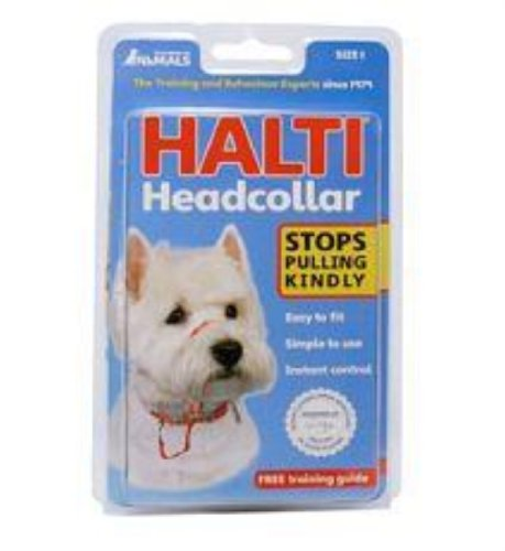 The Company Of Animals DCN11400 Size-1 Halti Head Halter/Collar, Red