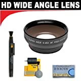 0.5x Digital Wide Angle Macro Professional Series Lens+ Lenspen + 5 Pc Cleaning Kit + DB ROTH Micro Fiber ClothFor The Samsung HMX-H100, H104, H105, H106 Flash Memory Camcorders