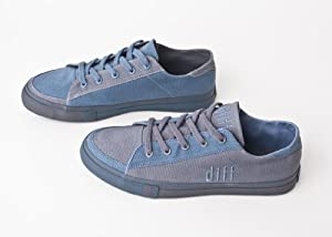 DIFF Shoes Men's Low Cut Canvas Shoes